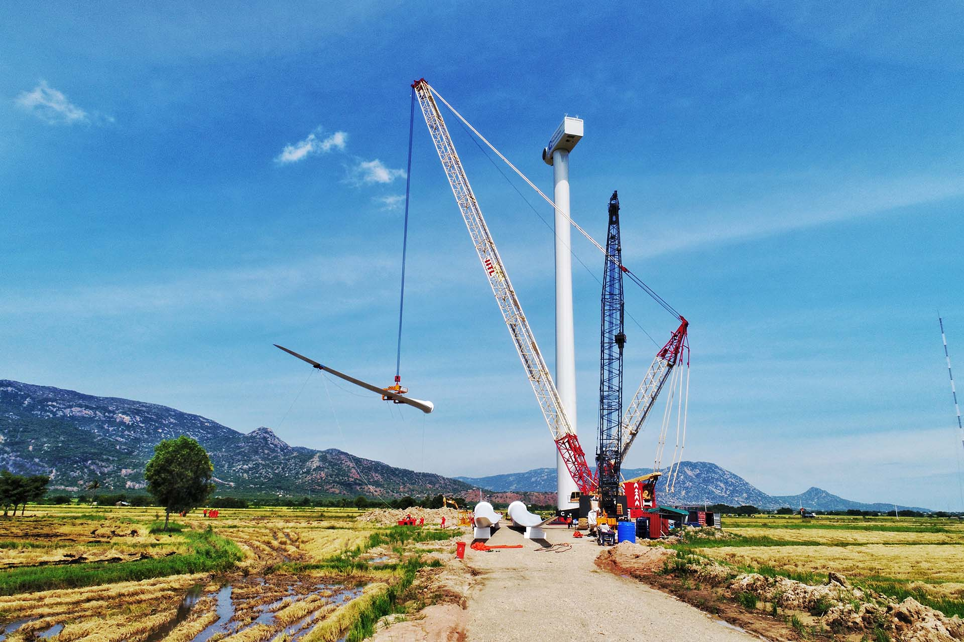 We were also owner's engineer for the Dam Nai onshore wind farm in Vietnam